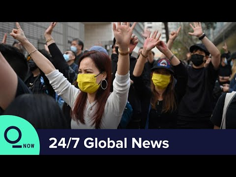 LIVE: Hong Kong Protesters Risked Arrest in Rally Outside Court | Top News - Bloomberg Politics