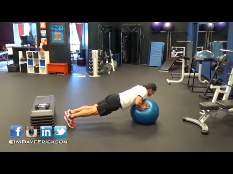 How To Perform Stability Ball Push Ups (Advanced) Exercises