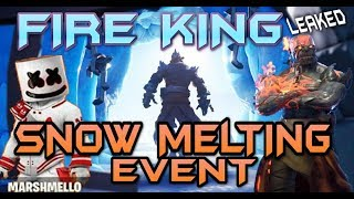 FORTNITE - MARSHMELLO EVENT WATCH - FIRE KING PRISONER MISSING - MAP MELTING EVENT LIVE
