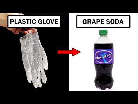 Turning plastic gloves into grape soda