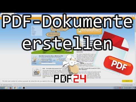 PDF Dokumente Aus Allen Anwendungen Heraus Erstellen Mit Dem PDF24 Creator
