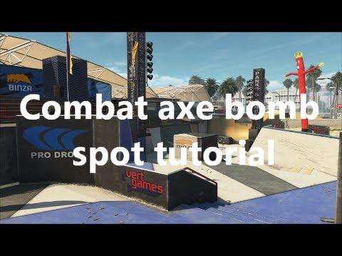 Black Ops 2 Grind Combat axe bomb spot tutorial