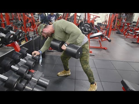 BACK AND ARMS   200LB ROWS
