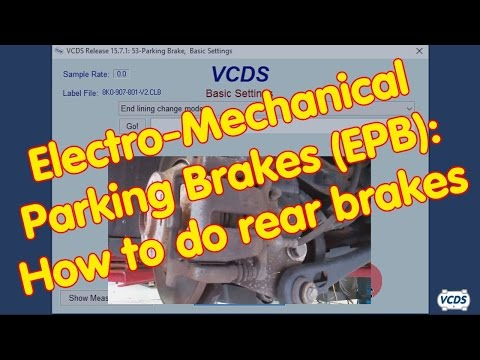 Electro-Mechanical Parking Brakes (EPB): How to do rear brakes