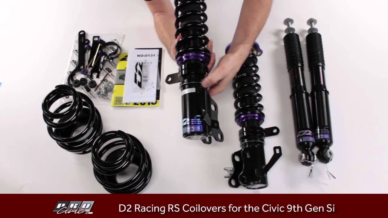 How to adjust D2 Racing RS Coilovers for the 9th Gen Si ...