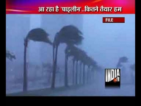 Severe cyclonic storm Phailin moves towards Odisha