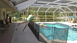 Gambar cover Dad jumps over fence, dives into pool to save son from drowning I ABC7