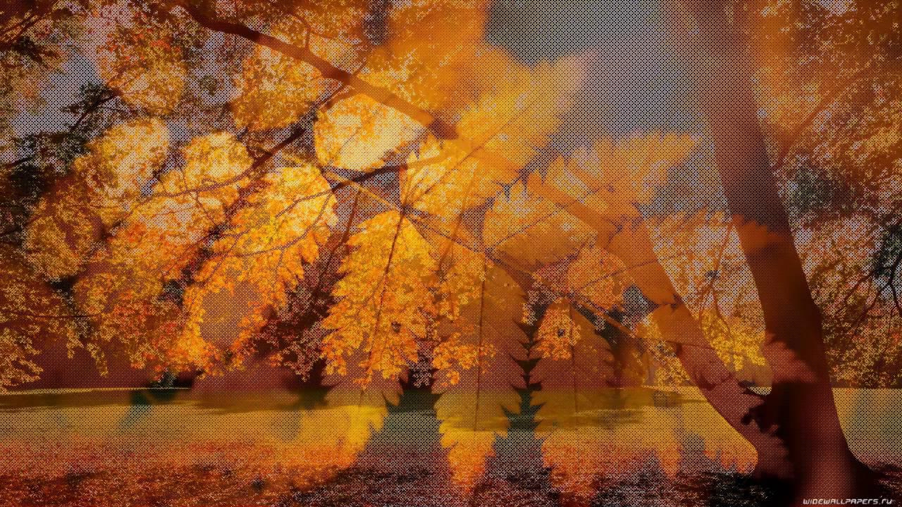 Красивая открытка анимационная осень грустная пора