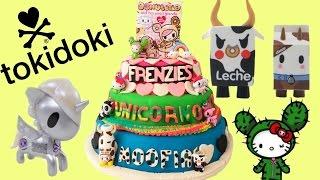 Huge Tokidoki Play Doh Surprise Cake! Moofia! Unicorno! Frenzies! Catus Kitties! Donutella!