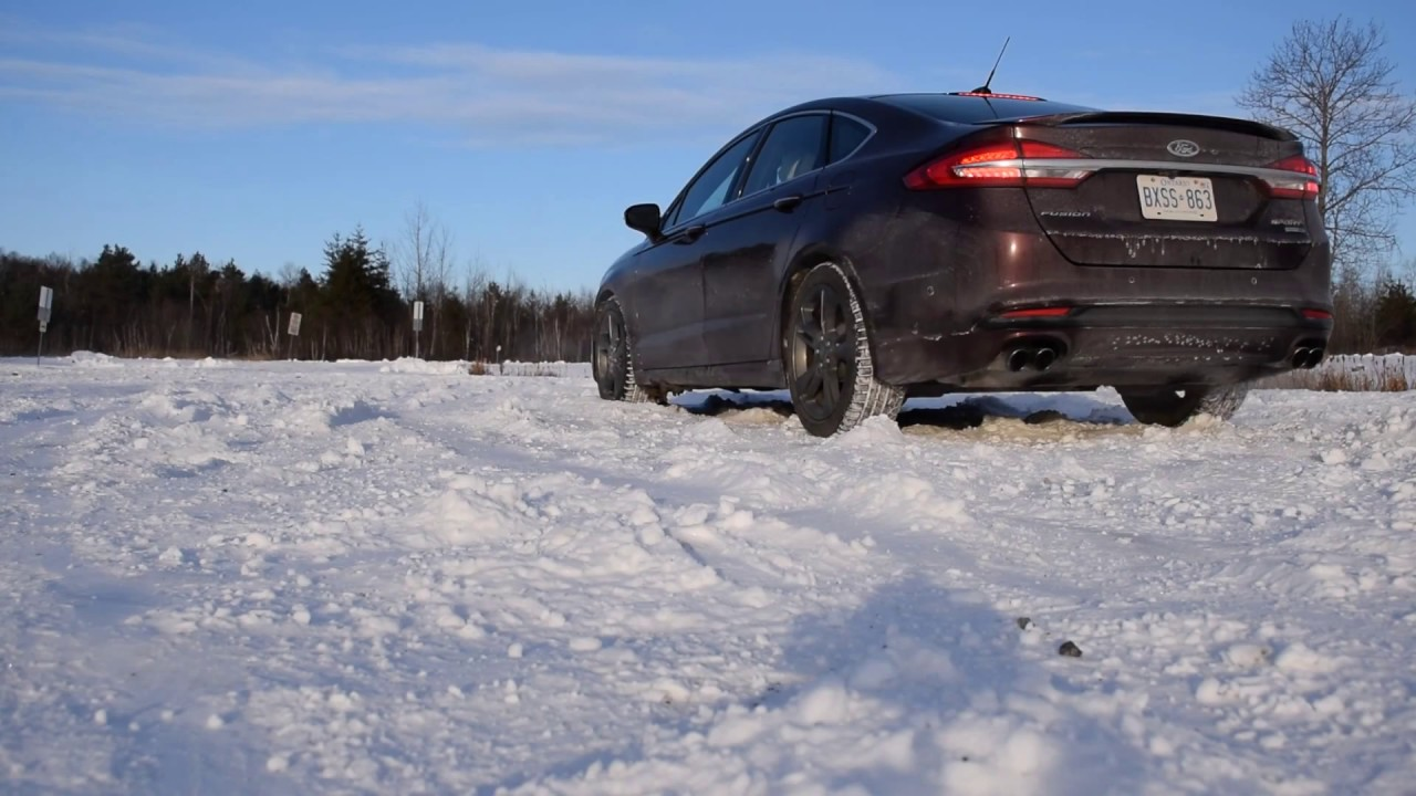 2017 Ford Fusion Sport Slip Then Grip Awd