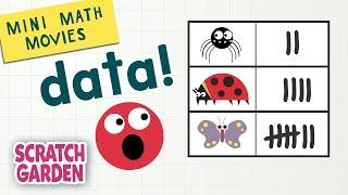 Data! | Mini Math Movies | Scratch Garden