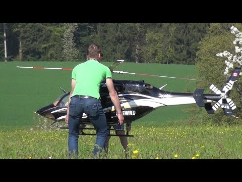 BIG RC HELICOPTER BELL 429 TURBINE ENGINE LOORHOLZ