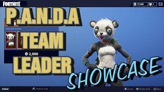Fortnite New P.A.N.D.A TEAM LEADER Showcase