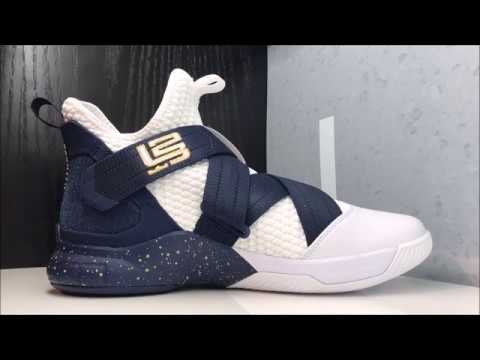 32f439c5e NIKE LEBRON JAMES SOLDIER 12 XII AKRON SNEAKER REVIEW - YouTube