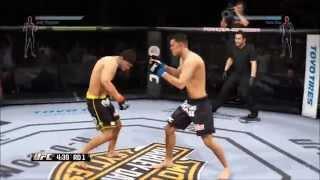 EA Sports UFC - Josh Thomson vs Nate Diaz Gameplay (PS4 HD) [1080p]