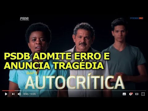 PSDB ADMITE ERRO E ANUNCIA TRAGÉDIA