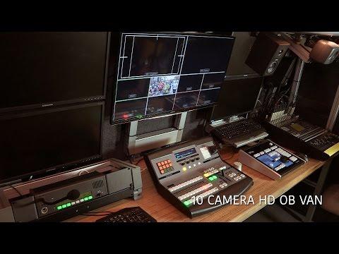 Live coverage of sport events using professional HD OB VAN