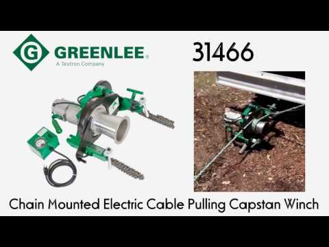 Greenlee 31466 Chain Mounted Electric Cable Pulling Capstan Winch