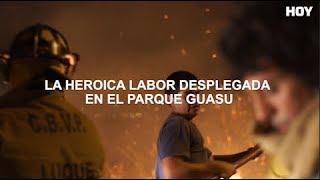 Incendio en el Parque Guasu del Área Metropolitana