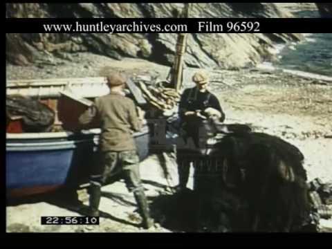 Cornwall's Fishermen, 1950s - Film 96592
