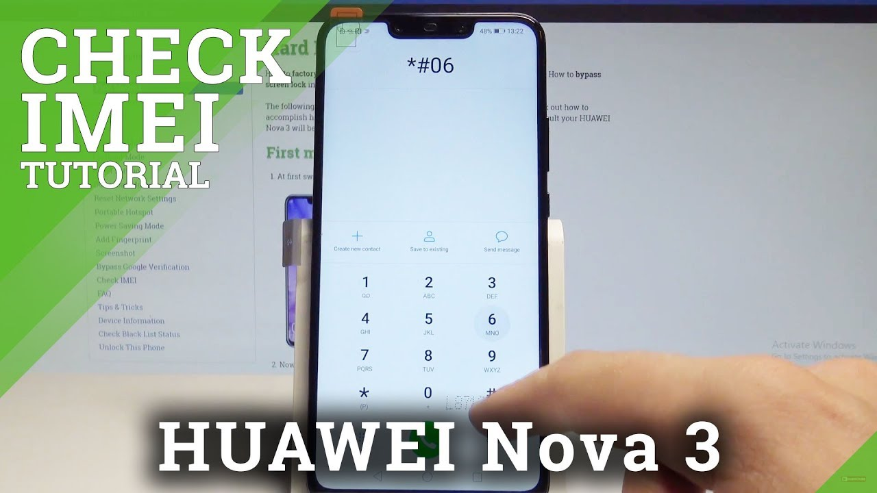 How to Check IMEI Number in HUAWEI Nova 3i - HardReset info