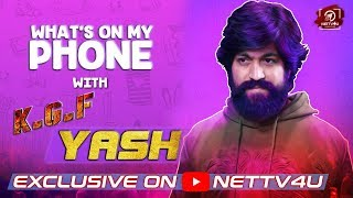 KGF Movie Yash video Interview   What's On My Phone   Vishal Film Factory