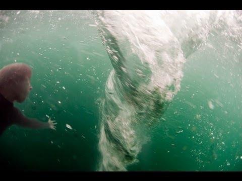 Man In Whirlpool! (Real Ocean Whirlpool)