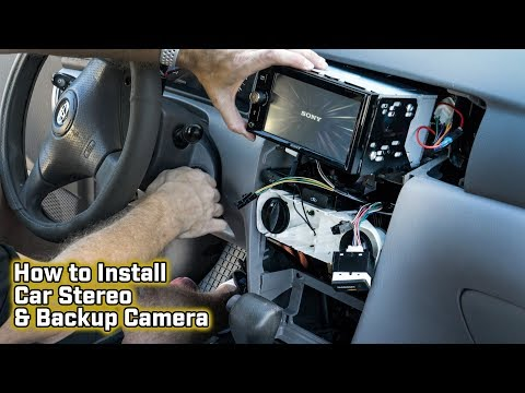 How to Install Your Aftermarket Car Stereo with a Backup Camera – Toyota Corolla