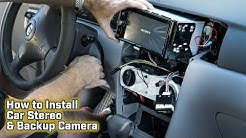 How to Install a Car Stereo and Backup Camera - Toyota Corolla