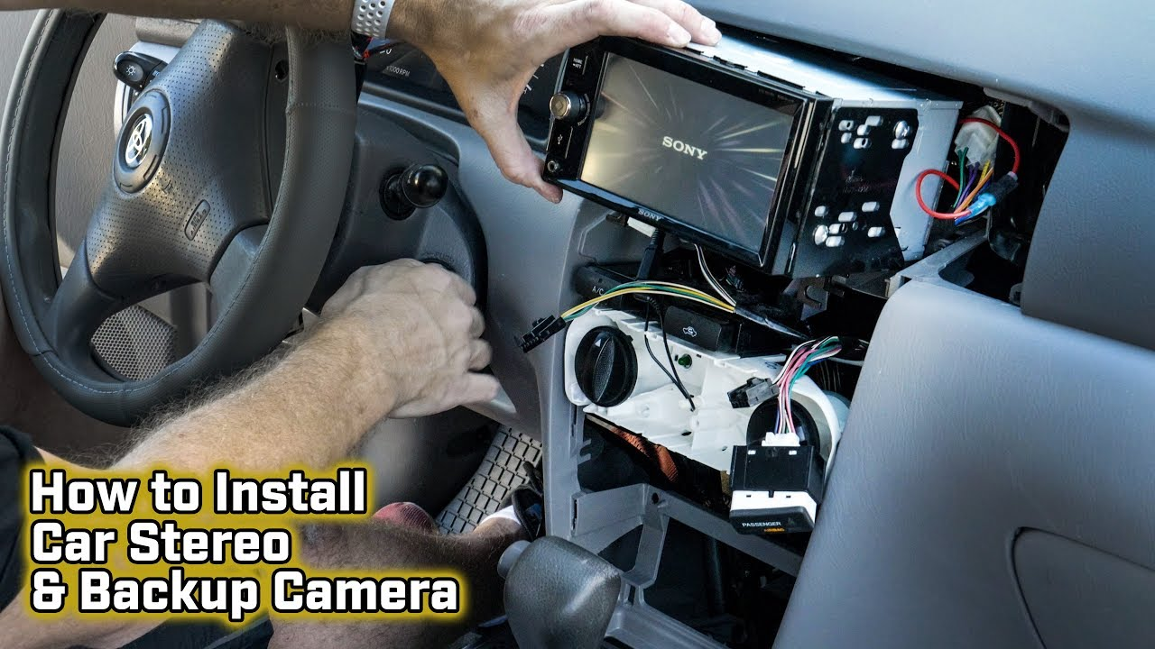 medium resolution of how to install a car stereo and backup camera toyota corolla