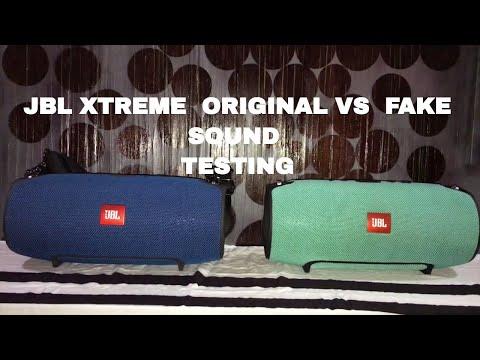 JBL Xtreme original vs fake sound test