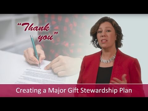 How to Create a Major Gift Stewardship Plan | Major Gifts Challenge