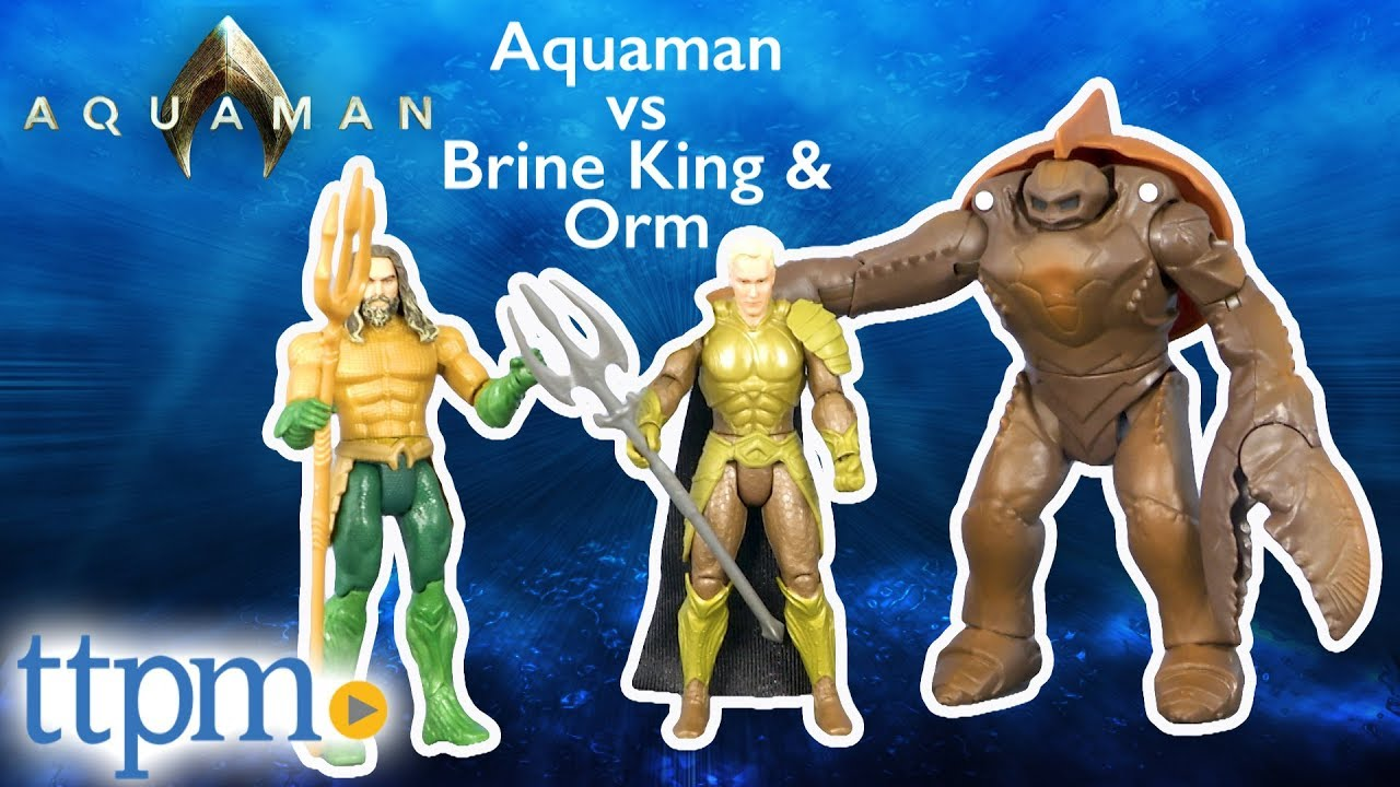 BRINE KING Action Figures ORM 3 pack AQUAMAN 6-inch Articulated
