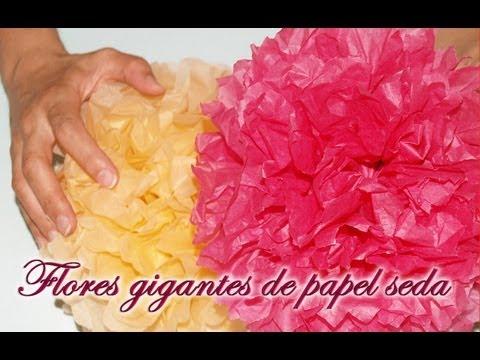 Flores Gigantes De Papel De Seda Diy Huge Tissue Paper Flowers