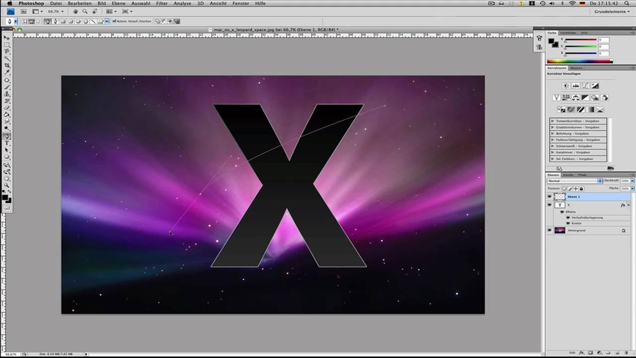 mac os x logo erstellen in photoshop youtube