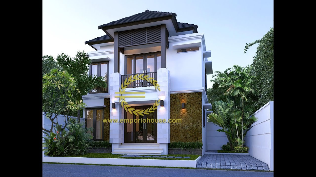 Paket Produk Desain Rumah 2 Lantai 3 Kamar Tidur Lebar Depan 11 M Youtube
