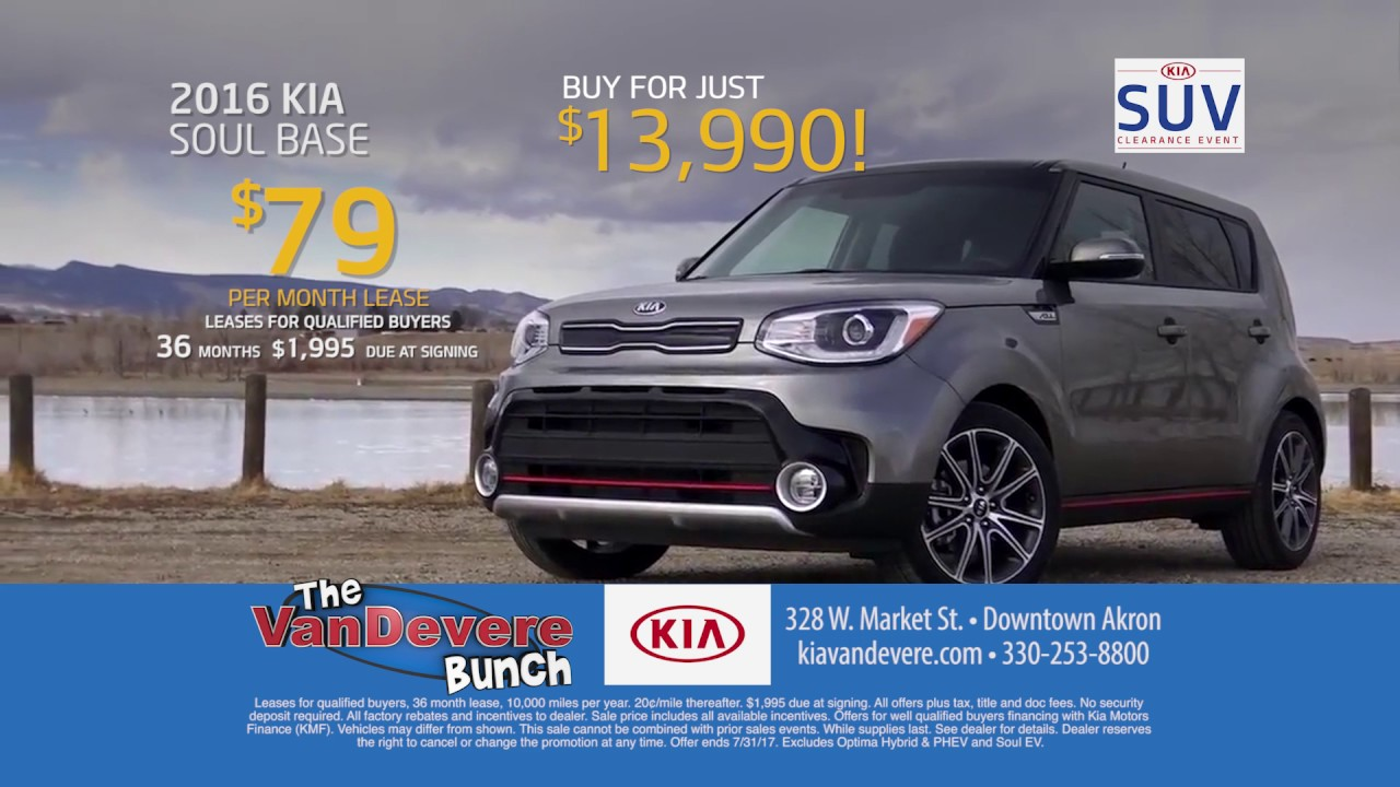 Vandevere Kia Commercial Suv Clearance Lease Soul From 79 A Month
