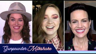 "Karen Gillan And The ""Gunpowder Milkshake"" Cast Plays Who's Who"