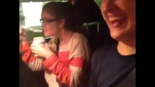 Funny vine girl chokes on spoon