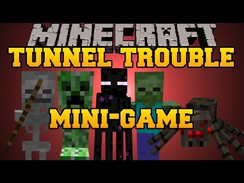 Minecraft Mini-Game : Tunnel Trouble - With Jen