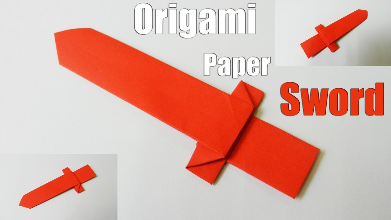 Origami Samurai Sword Instructions How To Fold An Make Paper Swords 28 Images