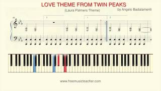 "How To Play Piano: ""Twin Peaks""   Laura Palmers Theme Piano Tutorial by Ramin Yousefi"