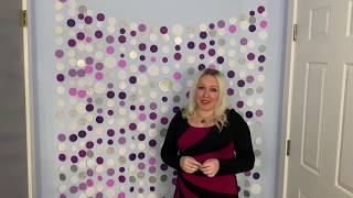 100 subs special Circle garland paper backdrop 3 different ways birthday wedding baby Martha Stewart
