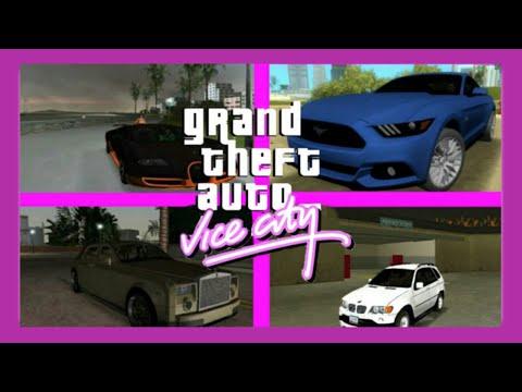 BUGATTI, MUSTANG, ROLLSROYCE, BMW X5 IN GTA VC