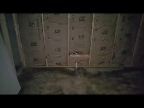 Ryan Homes new house construction - Day 39 - Pre-Drywall Walkthrough - Basement Greatroom