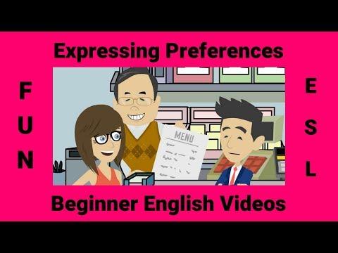 Expressing Preferences | Likes & Dislikes