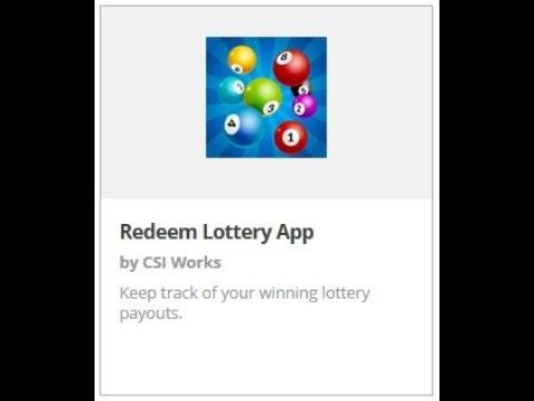 Redeem Lottery App - CSI Works