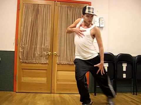 Chris Trousdale learning Claudia Swan's dance to his song