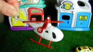 Машинки хулиганы, полицейская машина и вертолет. Видео для детей