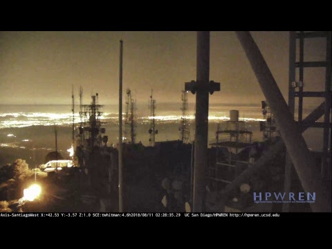 HPWREN Live Stream - 20180808+ Holy Fire, as seen from Santiago Peak